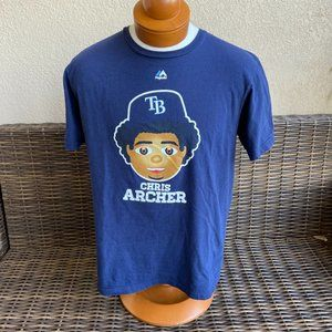 Majestic Tampa Bay Rays Chris Archer Pitcher Tee L